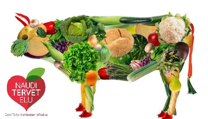 Vegan kuulutuse pilt logoga